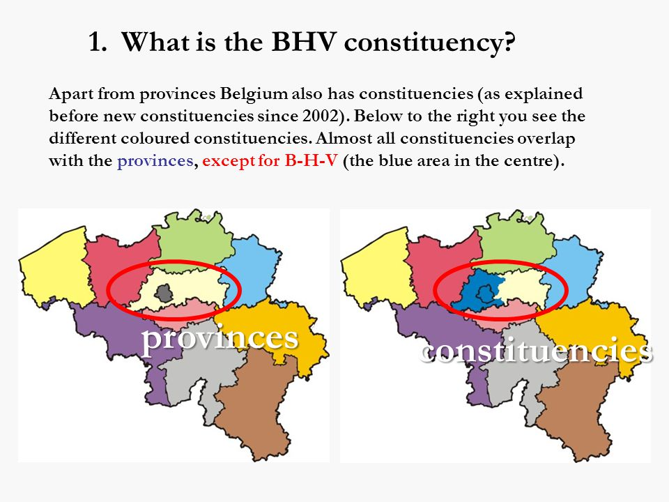 1. What is the BHV constituency.