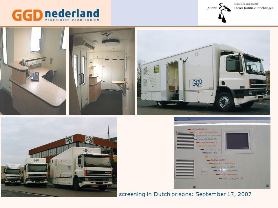 TB screening in Dutch prisons: September 17, 2007