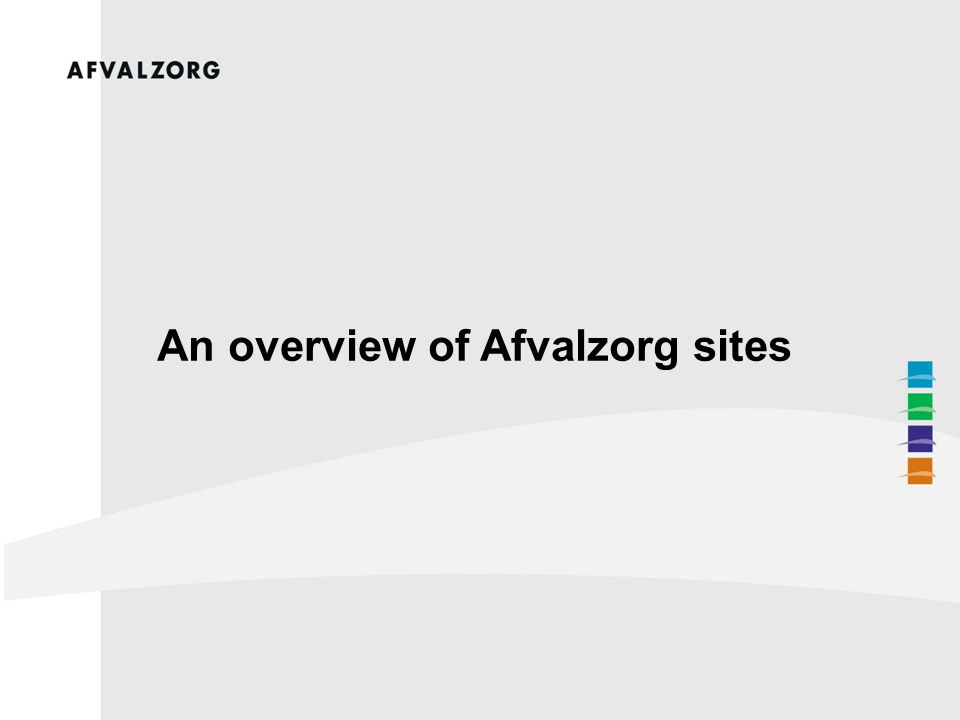 An overview of Afvalzorg sites