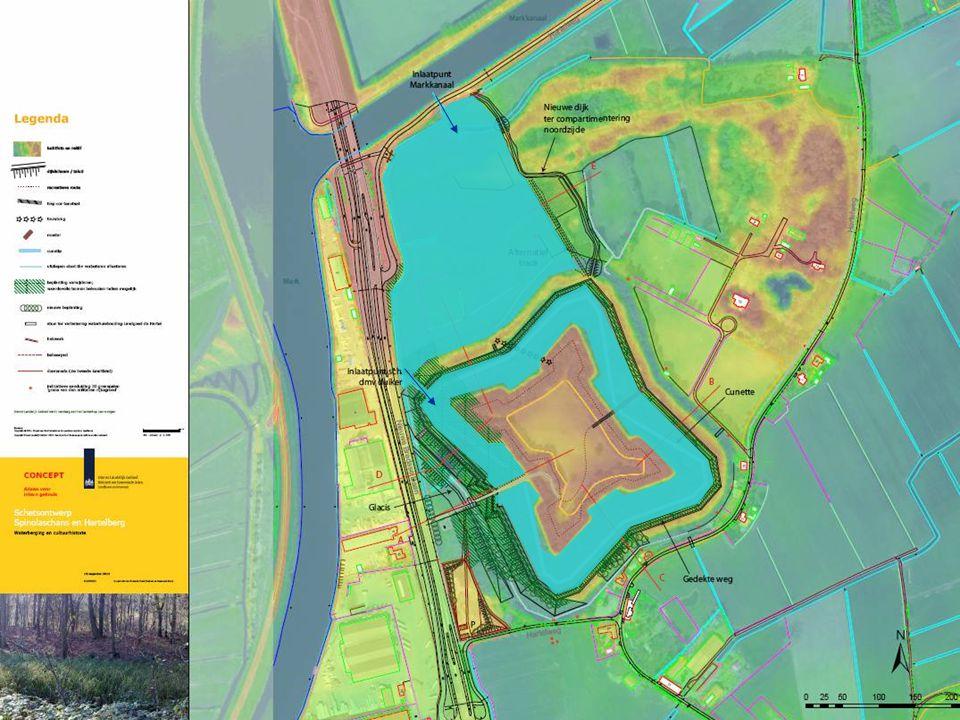 Tweede supplement Hingman Plan van het fort Spinola bij Breda 18de eeuw