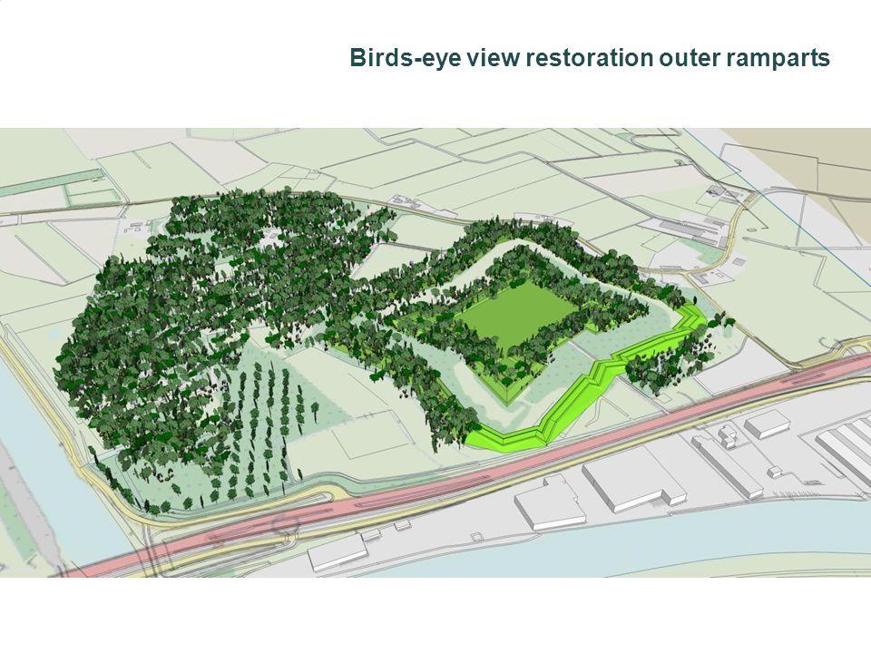 Birds-eye view restoration outer ramparts