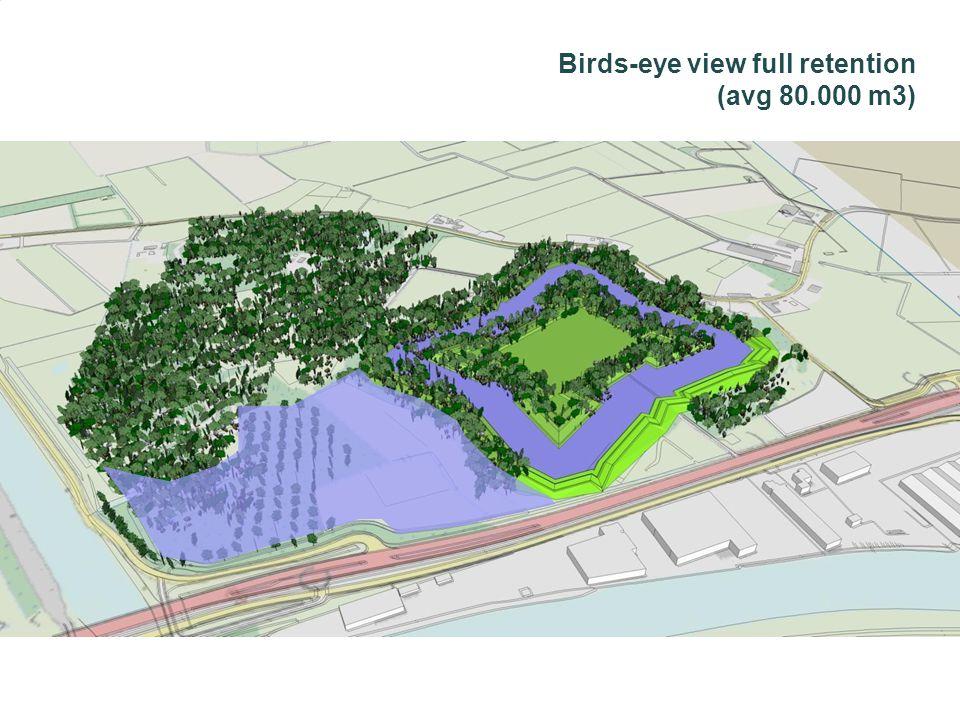 Birds-eye view full retention (avg 80.000 m3)