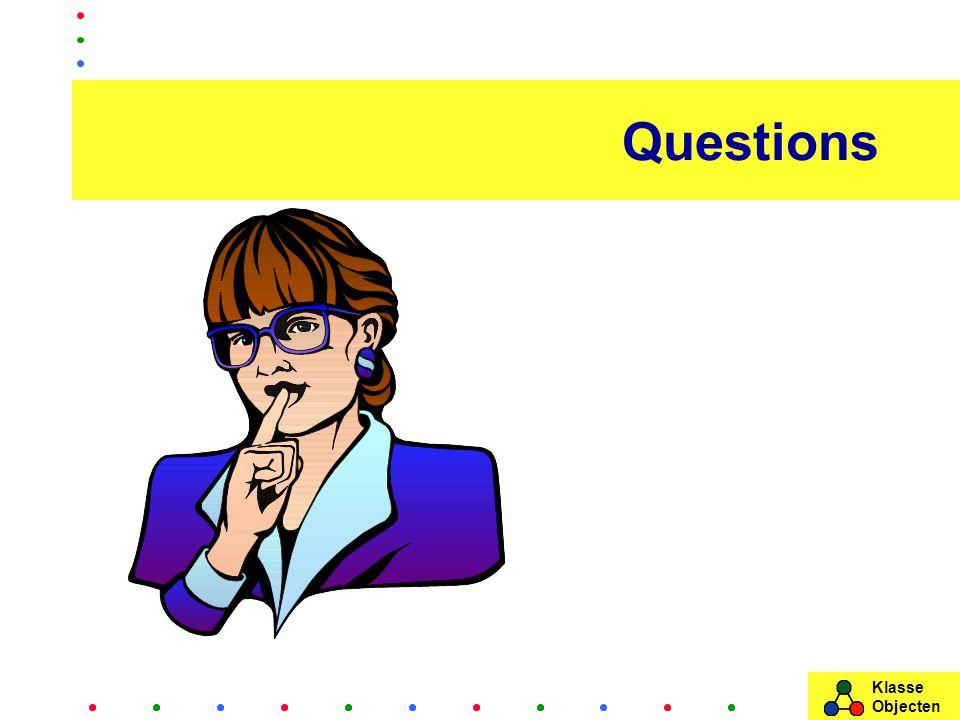 Klasse Objecten Questions