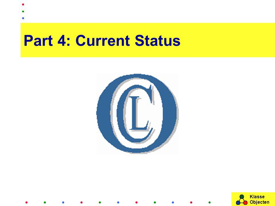Klasse Objecten Part 4: Current Status
