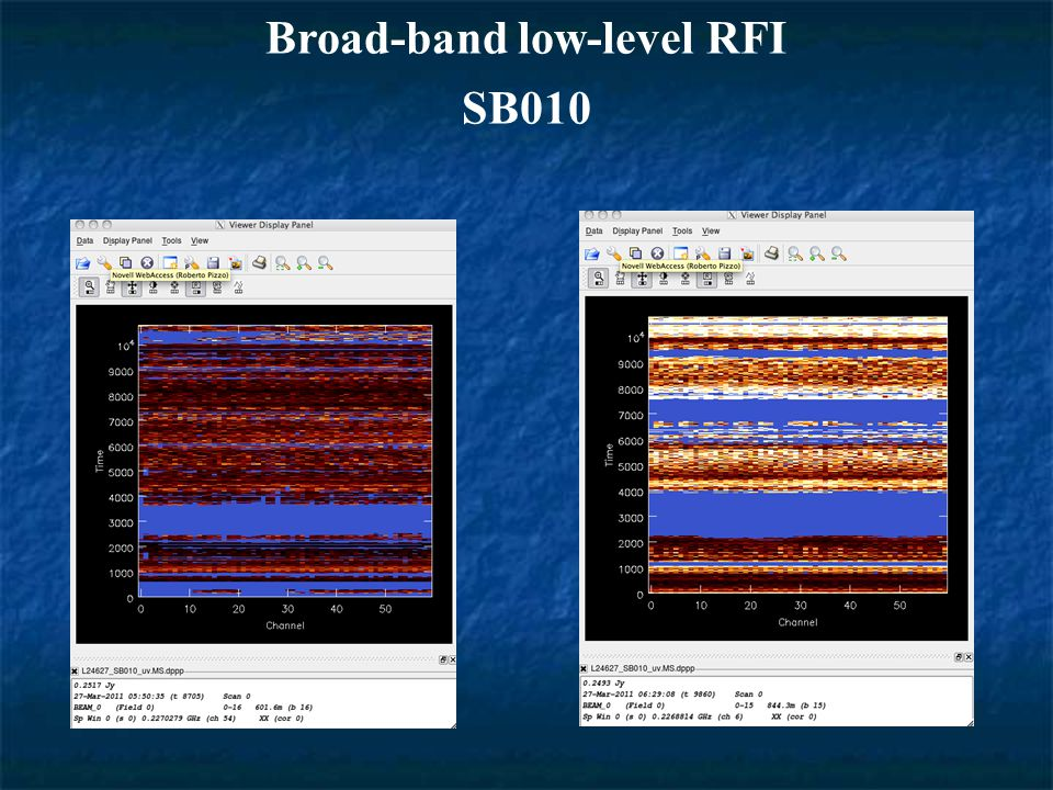 Broad-band low-level RFI SB010