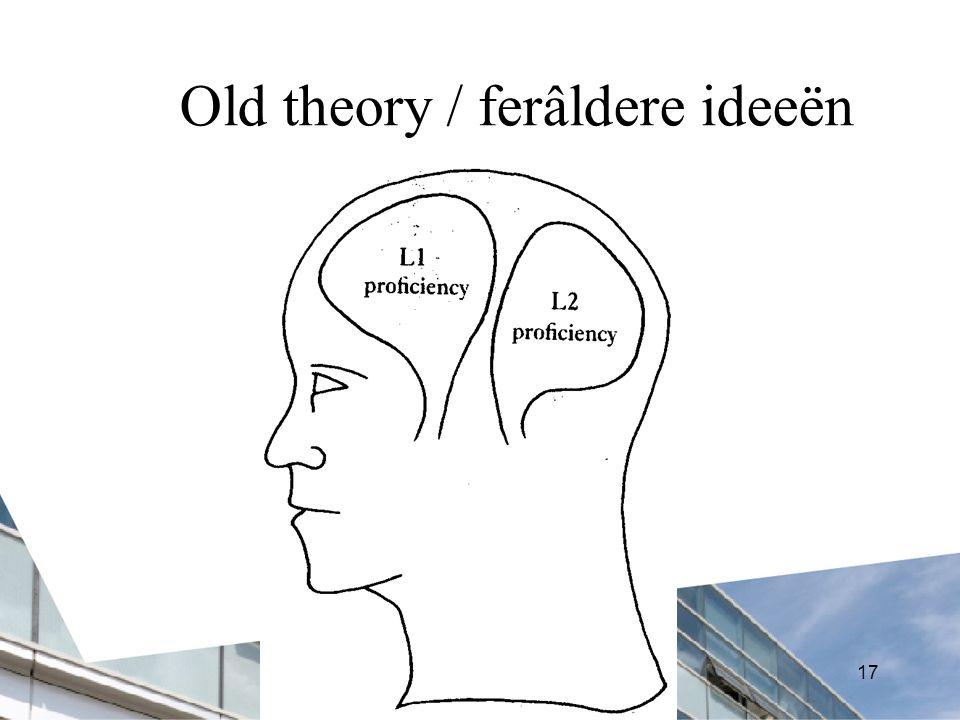 17 Old theory / ferâldere ideeën