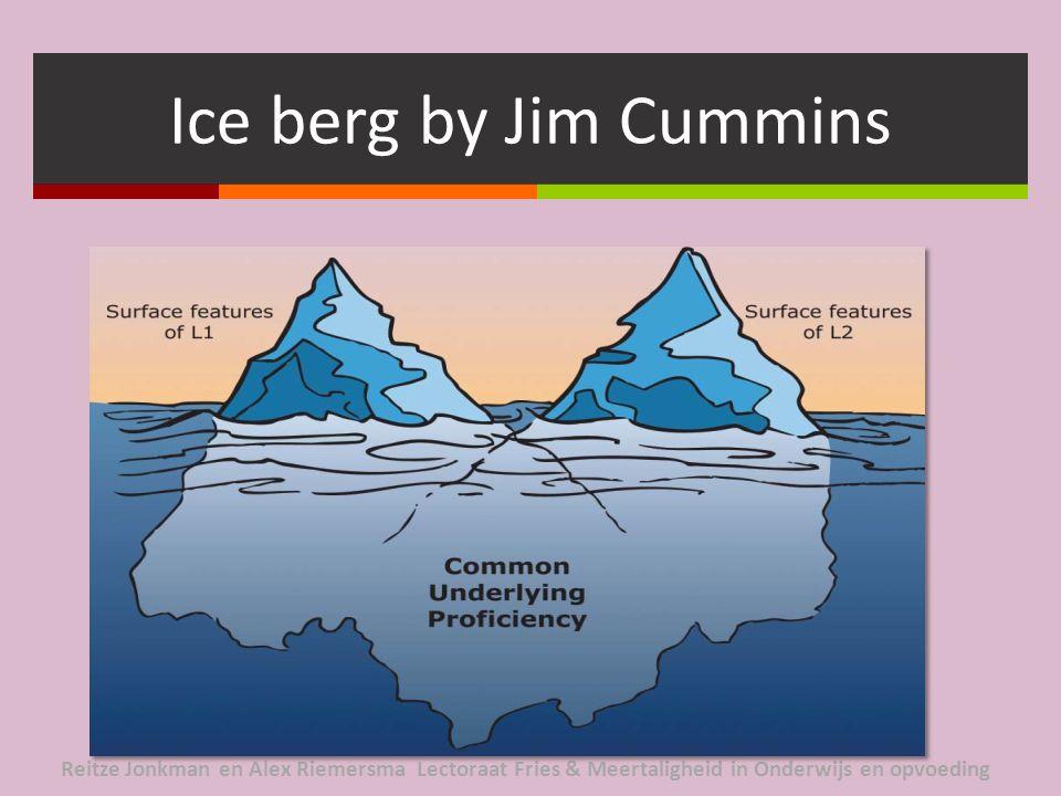 Ice berg by Jim Cummins Reitze Jonkman en Alex Riemersma Lectoraat Fries & Meertaligheid in Onderwijs en opvoeding