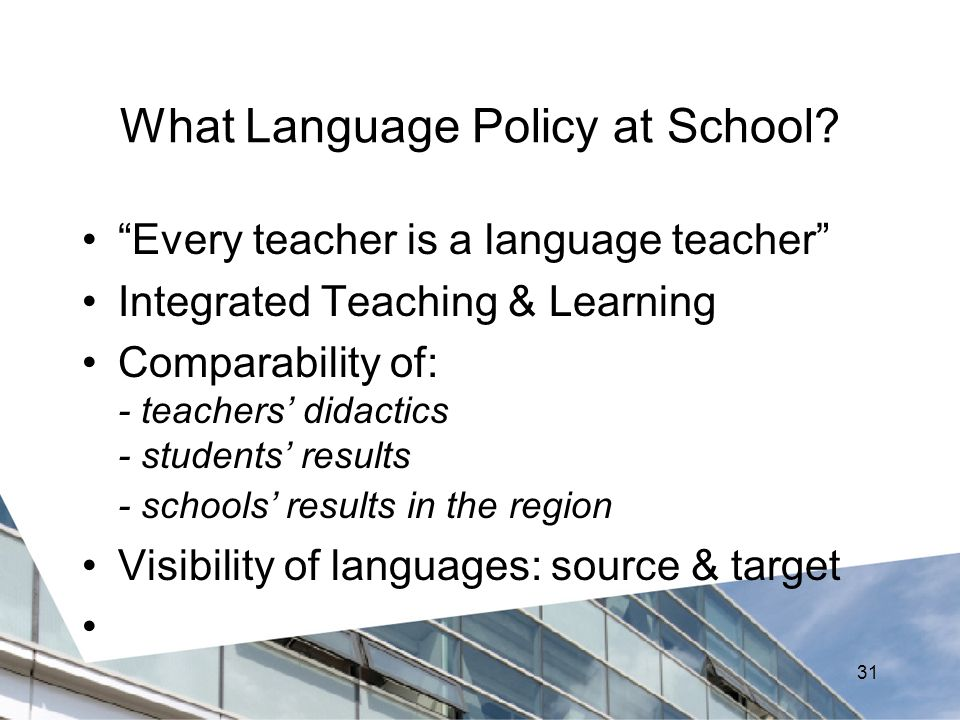 What Language Policy at School.