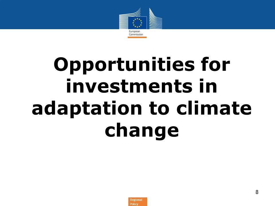 Regional Policy Why using ERDF/Cohesion Fund for adaptation .