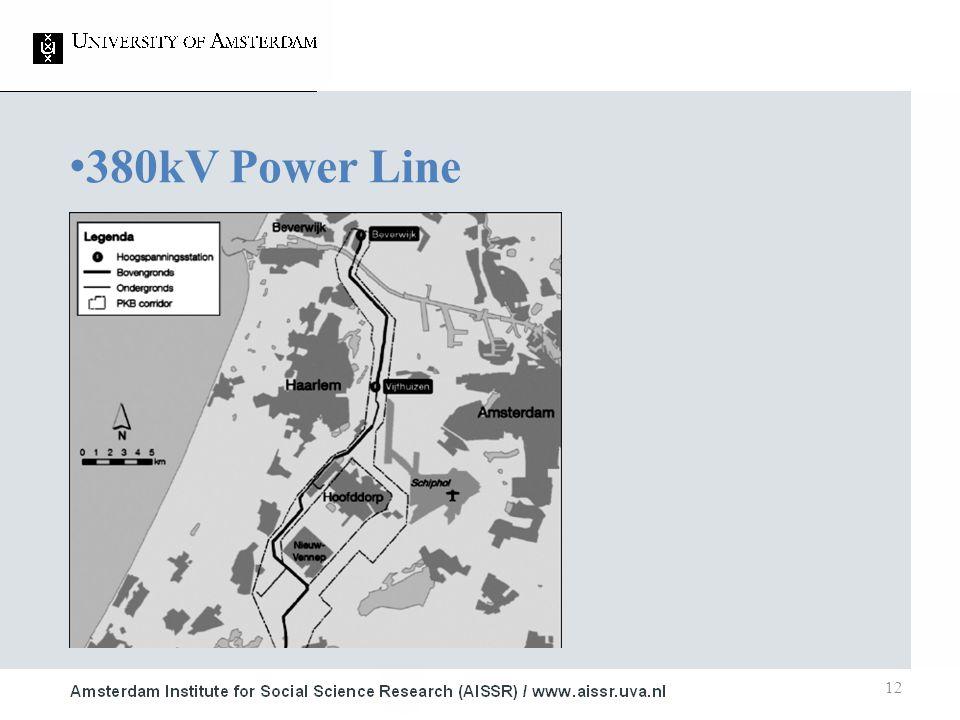 12 380kV Power Line 1.Air Traffic Safety ■ LIB 2.Nota Ruimte ■ 20Ke contour 3.High Voltage Power Lines ■ SEV II ■ Wro