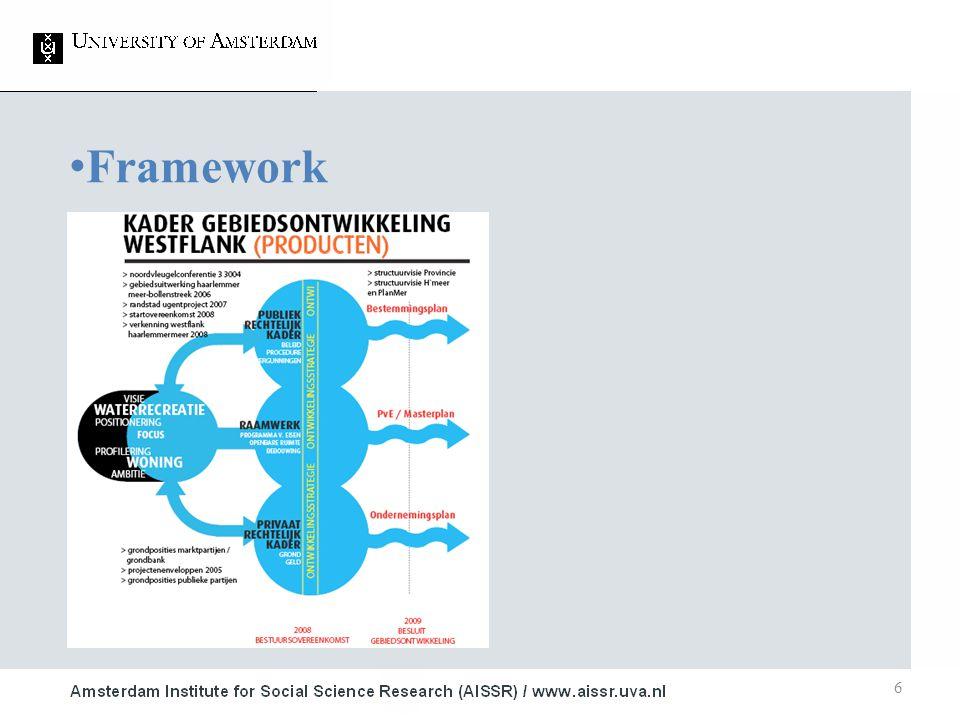 6 Framework 1.Studie ■ Onderwerp 2.Studie ■ Onderwerp