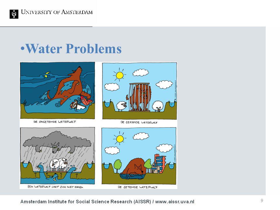 9 Water Problems 1.Studie ■ Onderwerp 2.Studie ■ Onderwerp