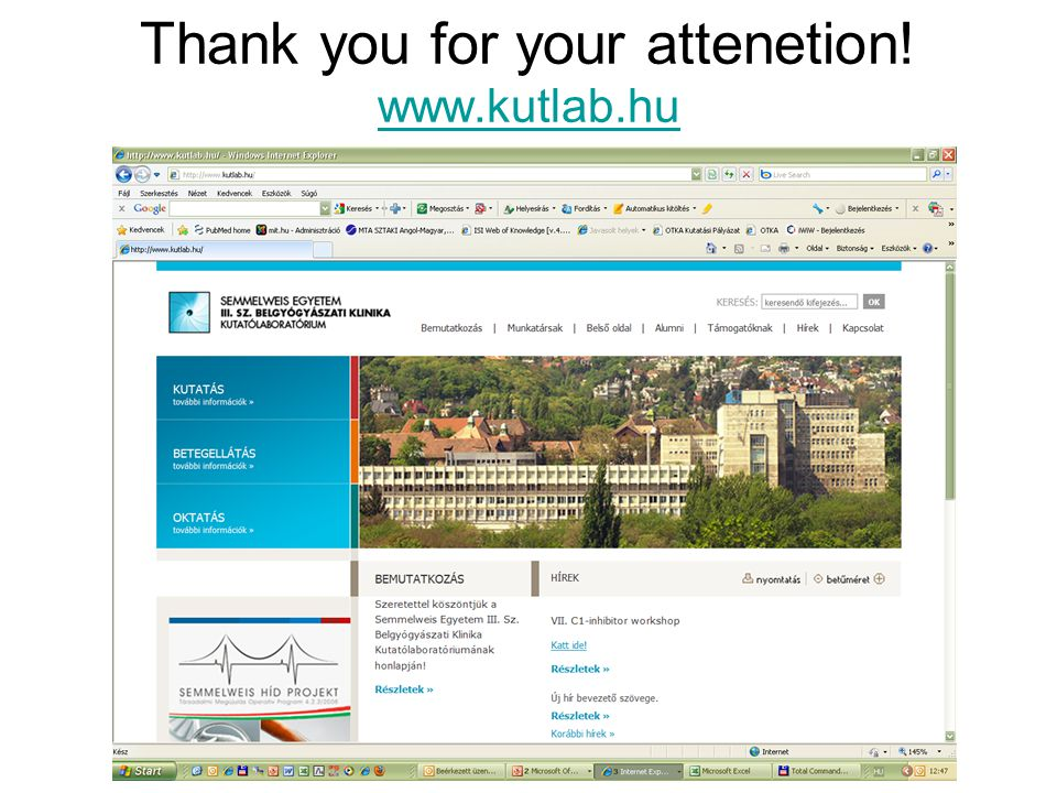 Thank you for your attenetion! www.kutlab.hu www.kutlab.hu