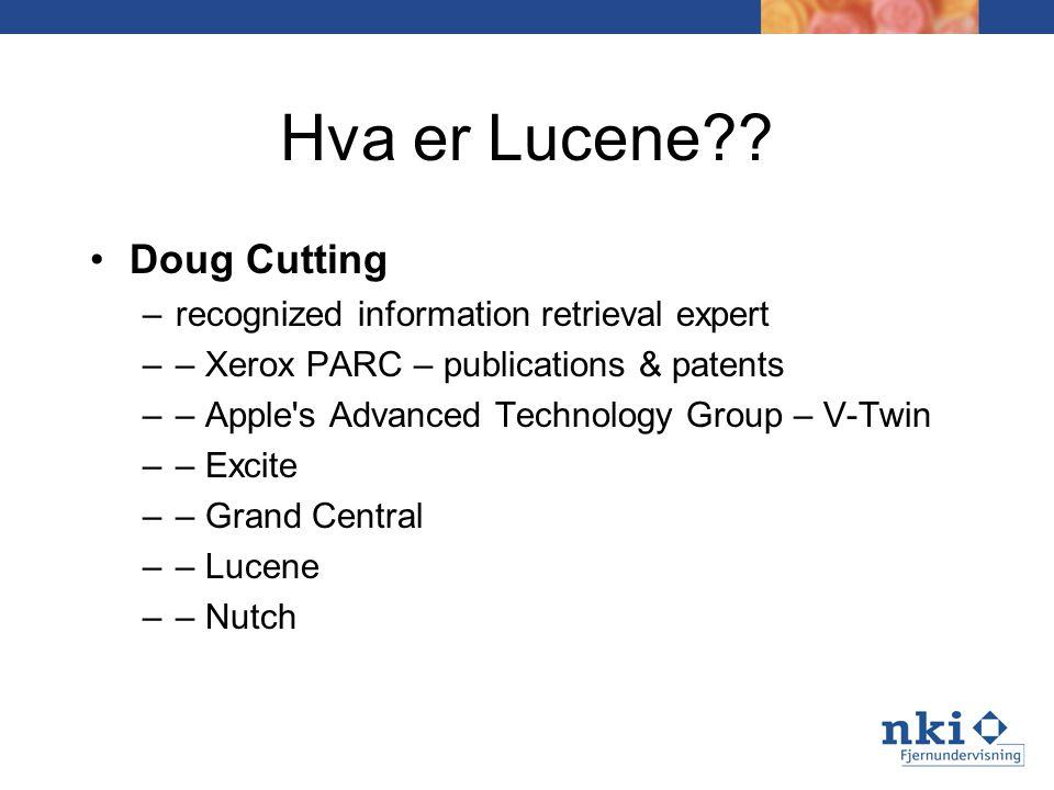 Hva er Lucene .