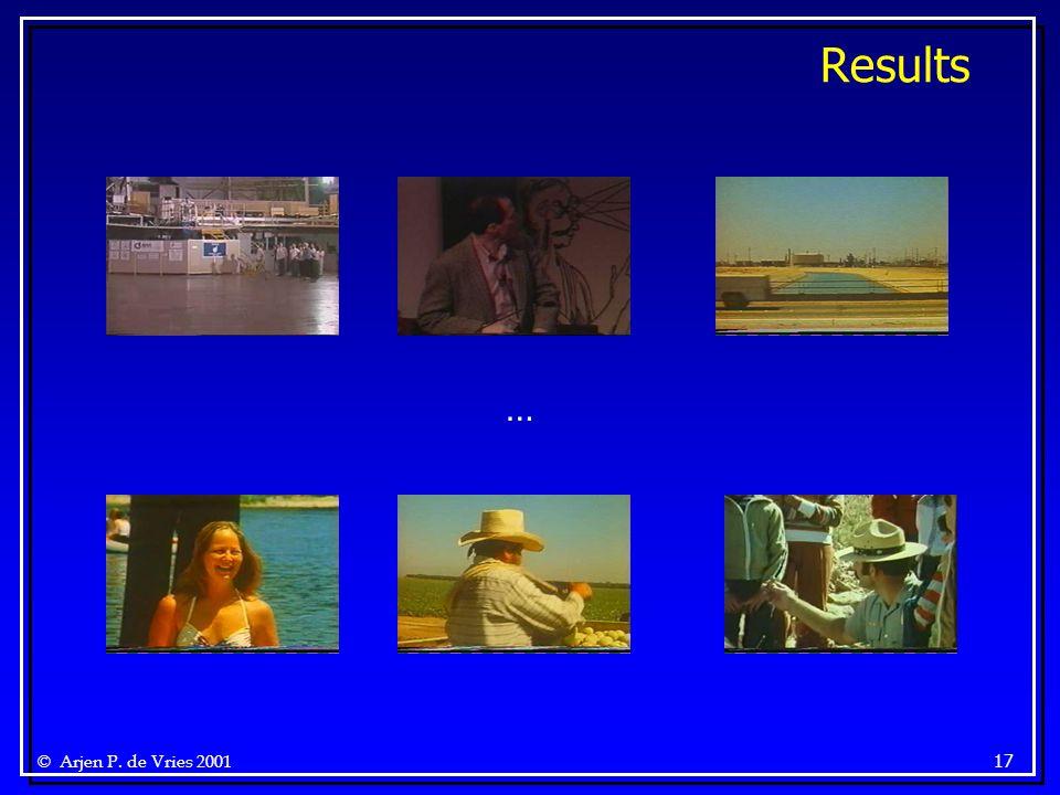 © Arjen P. de Vries 2001 17 Results …