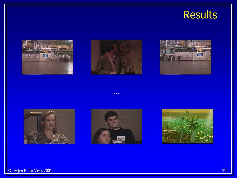 © Arjen P. de Vries 2001 19 Results …