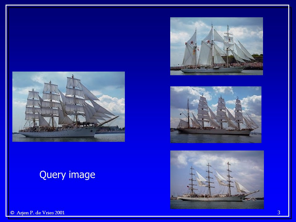 © Arjen P. de Vries 2001 3 Query image