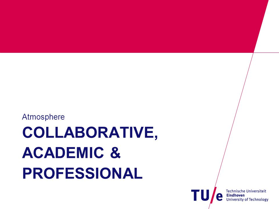 COLLABORATIVE, ACADEMIC & PROFESSIONAL Atmosphere