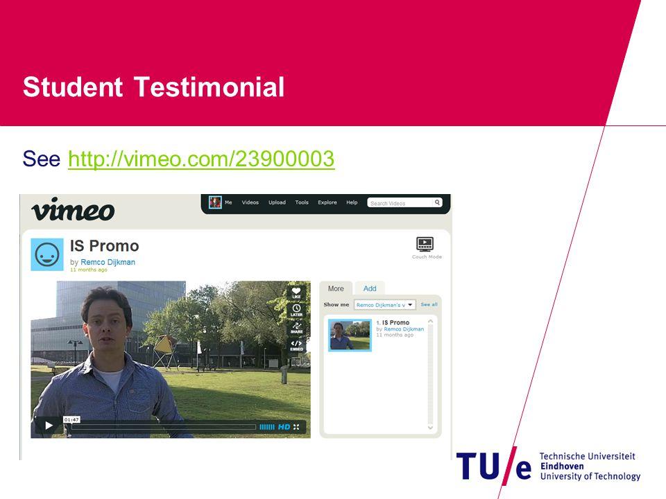 Student Testimonial See http://vimeo.com/23900003http://vimeo.com/23900003