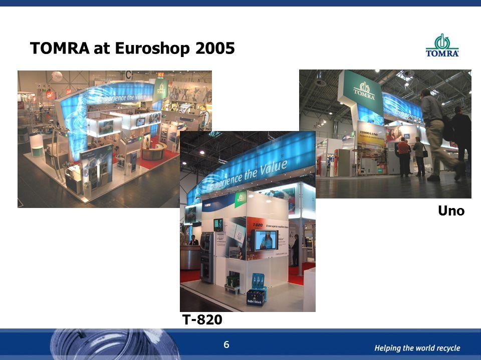 6 TOMRA at Euroshop 2005 T-820 Uno