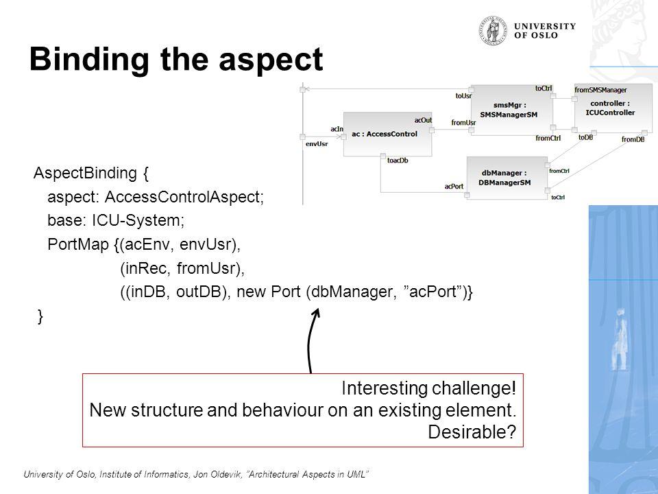 University of Oslo, Institute of Informatics, Jon Oldevik, Architectural Aspects in UML Distributed Proxy Aspect (DPA)