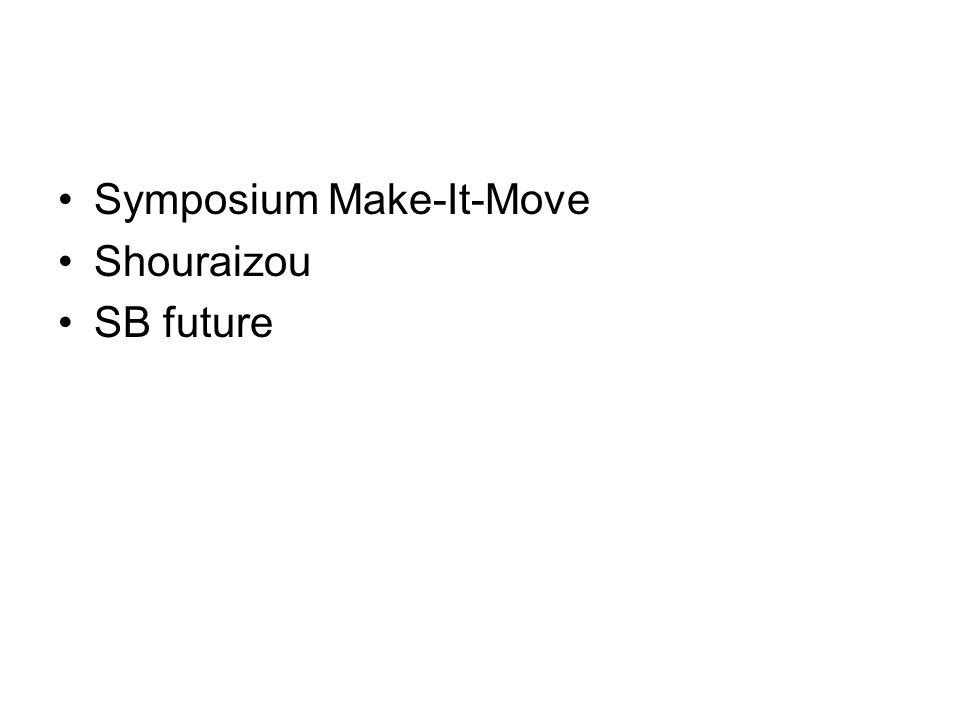 Symposium Make-It-Move Shouraizou SB future