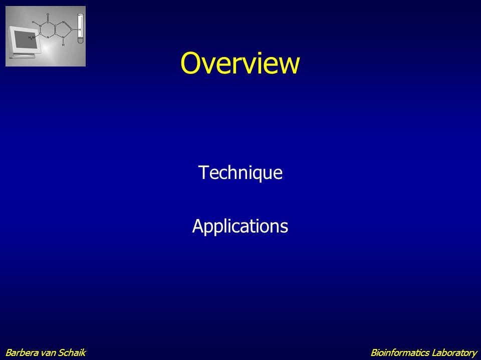 Bioinformatics LaboratoryBarbera van Schaik