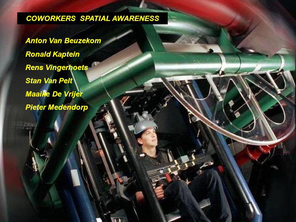 COWORKERS SPATIAL AWARENESS Anton Van Beuzekom Ronald Kaptein Rens Vingerhoets Stan Van Pelt Maaike De Vrijer Pieter Medendorp