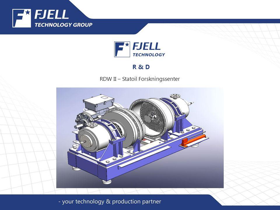 R & D RDW II – Statoil Forskningssenter