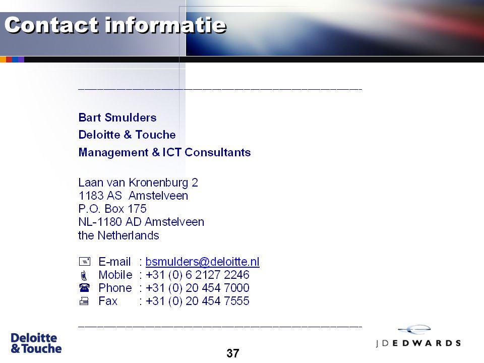 37 Contact informatie