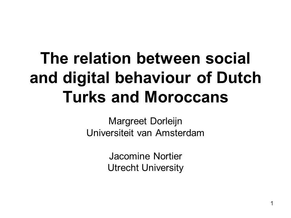 2 This presentation: Turkish and Moroccan communities Comparison of language choice, stylistic means and cs in spoken and digital language use by Turks and Moroccans, respectively.