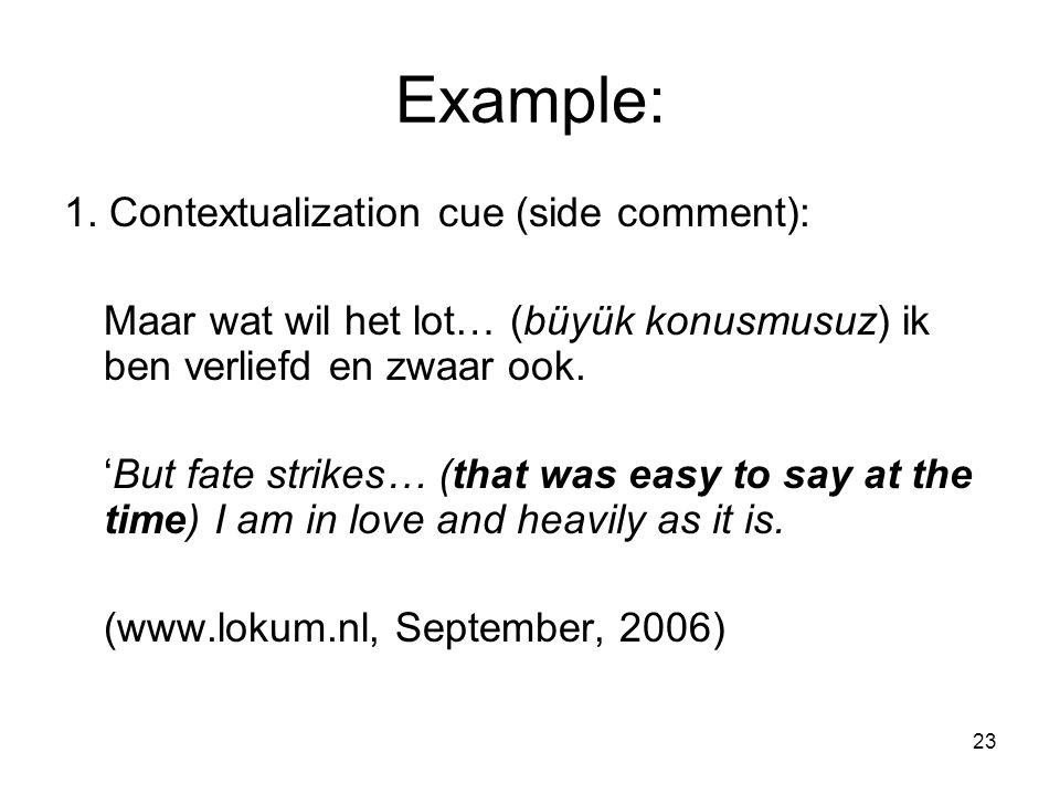 23 Example: 1.