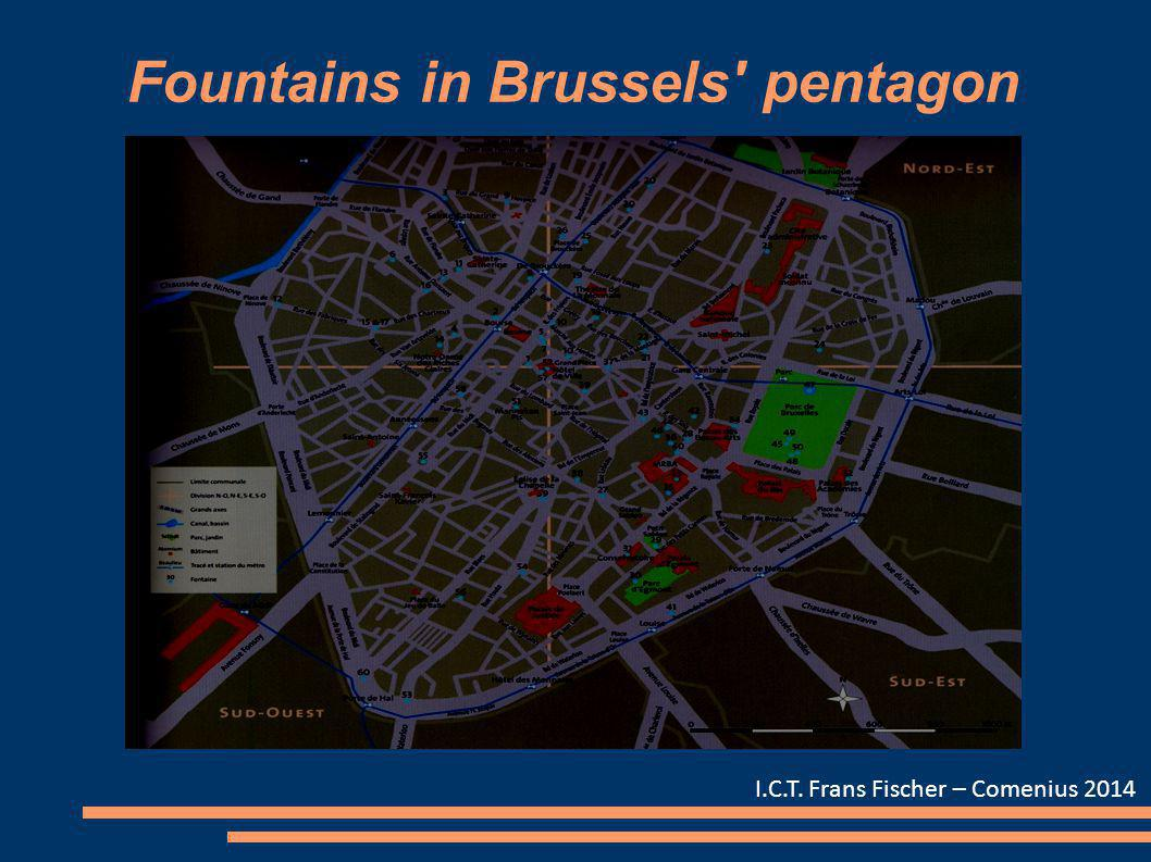Fountains in Brussels' pentagon I.C.T. Frans Fischer – Comenius 2014