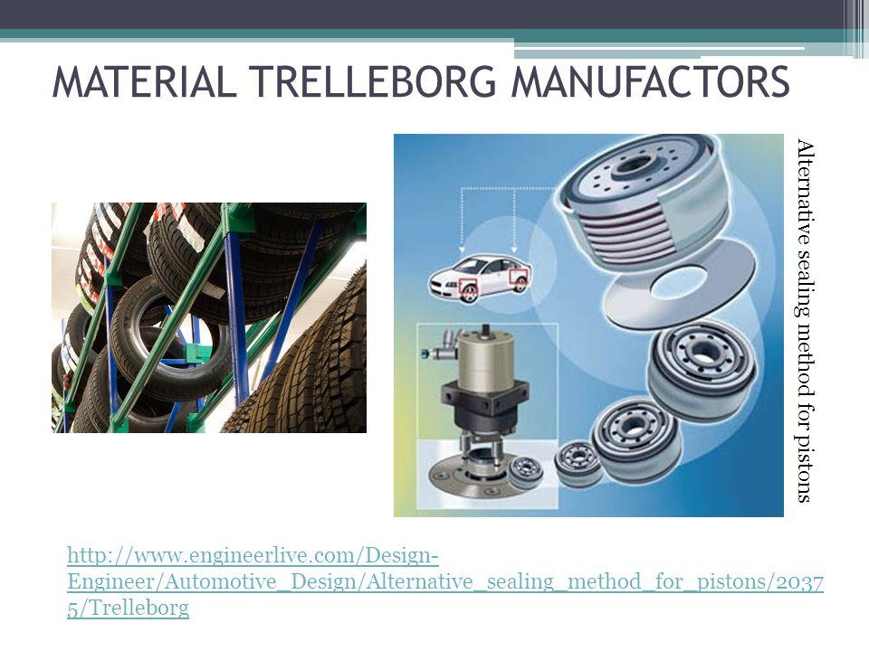 MATERIAL TRELLEBORG MANUFACTORS http://www.engineerlive.com/Design- Engineer/Automotive_Design/Alternative_sealing_method_for_pistons/2037 5/Trelleborg Alternative sealing method for pistons
