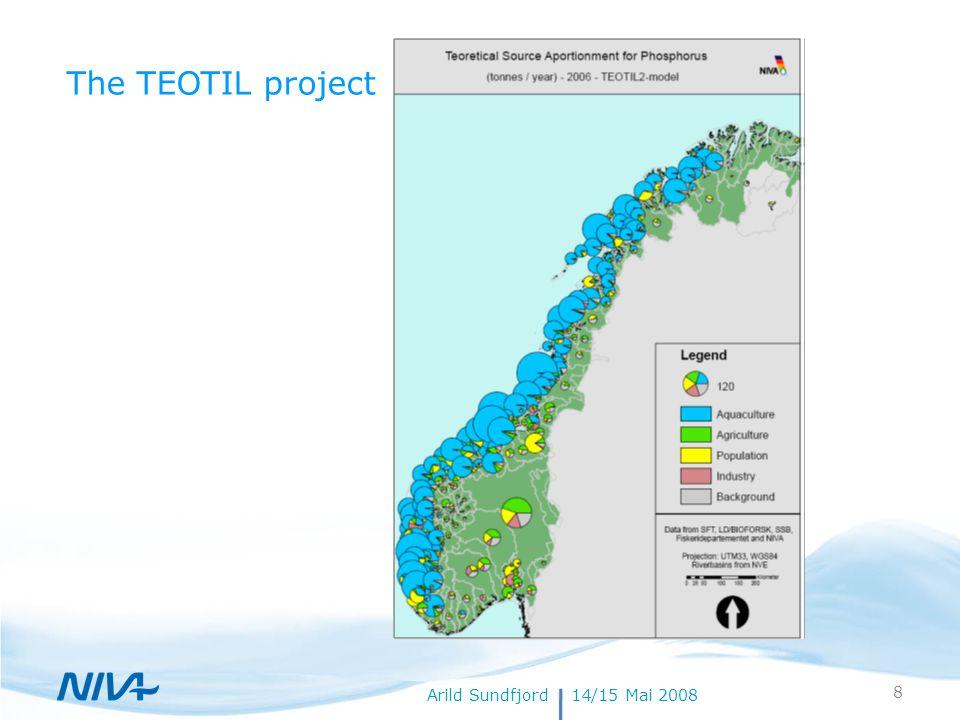 18. juli 20148Forfatternavn Arild Sundfjord14/15 Mai 2008 The TEOTIL project