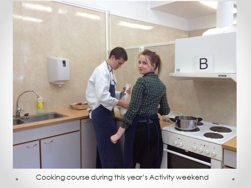 Cooking course during this year's Activity weekend