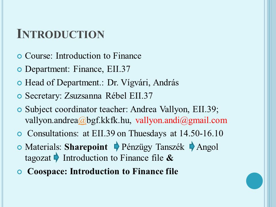 F INANCIAL INSTRUMENTS AND FINANCIAL MARKETS Securities Freely bought and sold Shares, preference shares Corporate and goverment bonds, eurobonds T-bills certificate of deposit, commercial papers Financial markets - primary - secondary