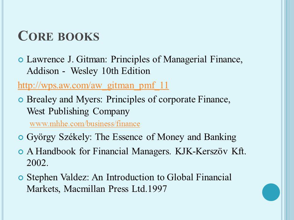 C ORE BOOKS Lawrence J.