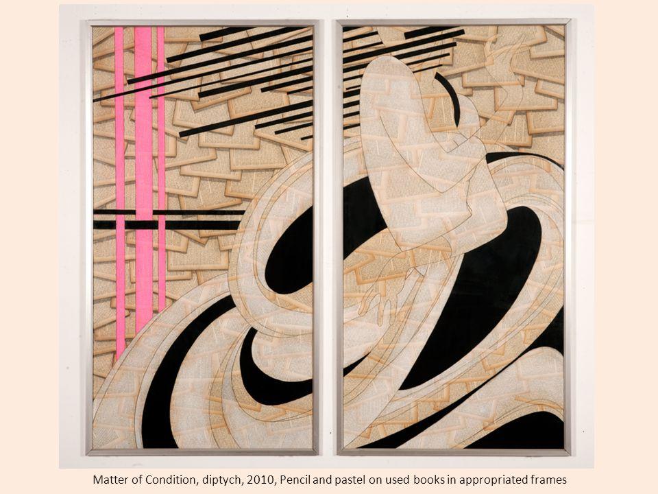 Gita Meh http://www.cuadroart.com/en/artists/meh-gita.html Connect 44 x 58 cm – Diptych Mixed Media on Original Book Page, 2011