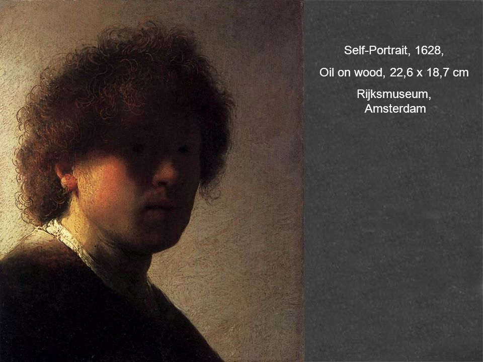 Self-Portrait, 1628, Oil on wood, 22,6 x 18,7 cm Rijksmuseum, Amsterdam