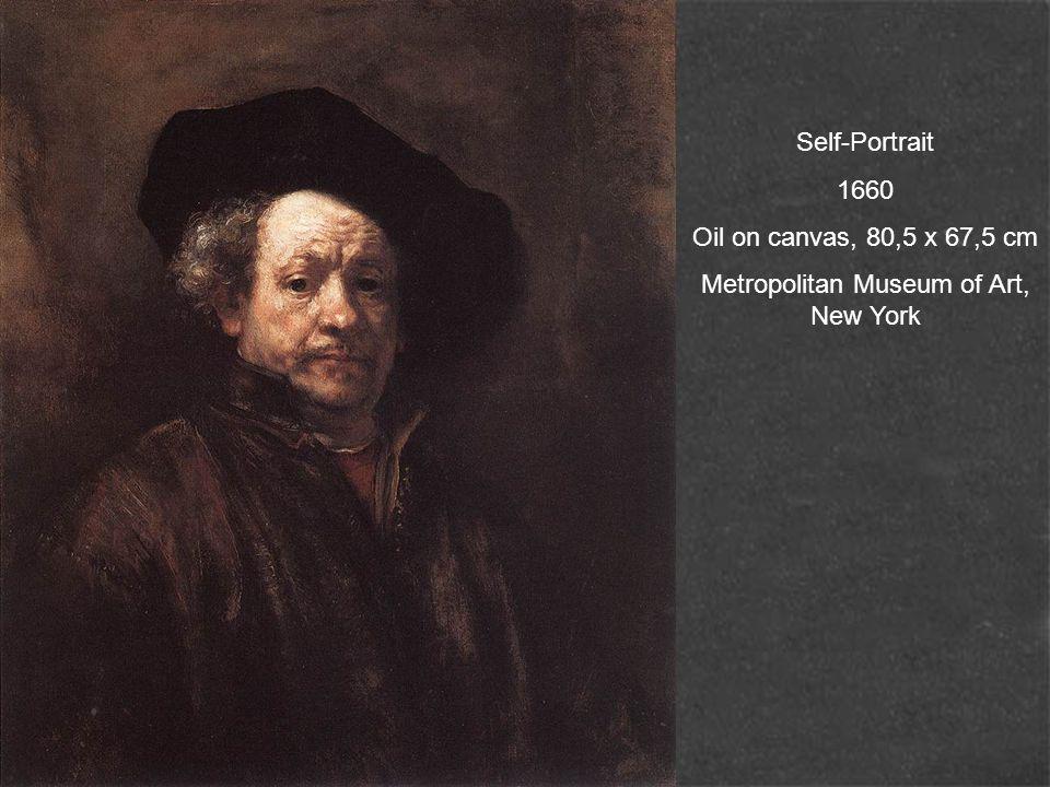 Self-Portrait 1660 Oil on canvas, 80,5 x 67,5 cm Metropolitan Museum of Art, New York