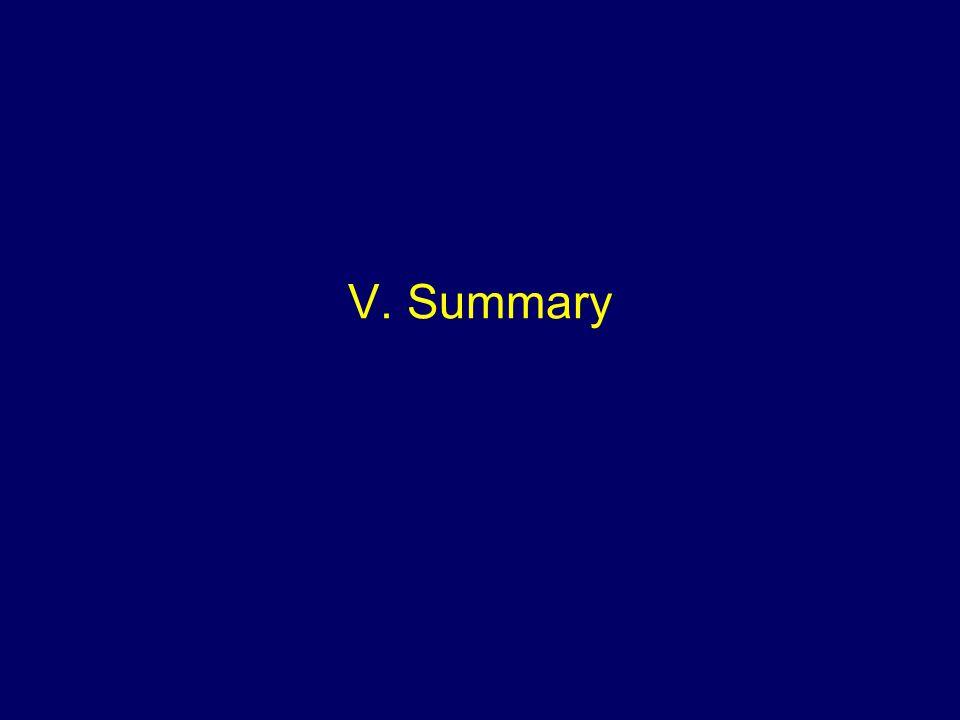 V. Summary