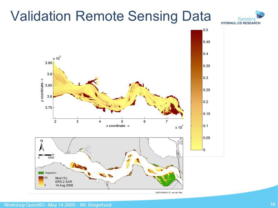 Workshop Quest4D –May 14 2009 – WL Borgerhout 16 Validation Remote Sensing Data