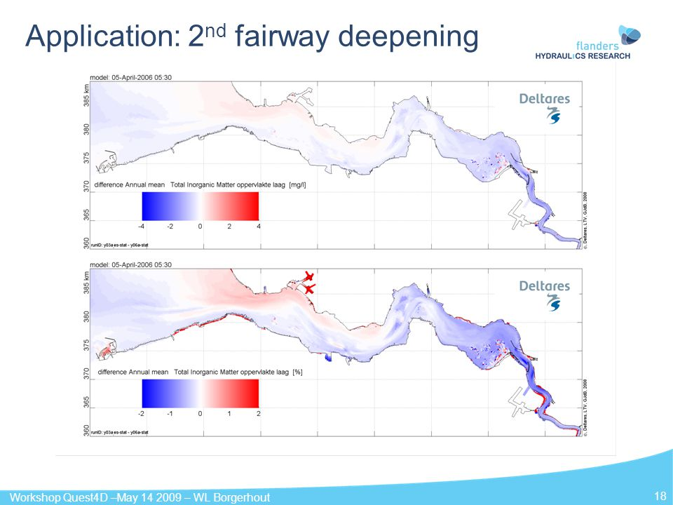 Workshop Quest4D –May 14 2009 – WL Borgerhout 18 Application: 2 nd fairway deepening