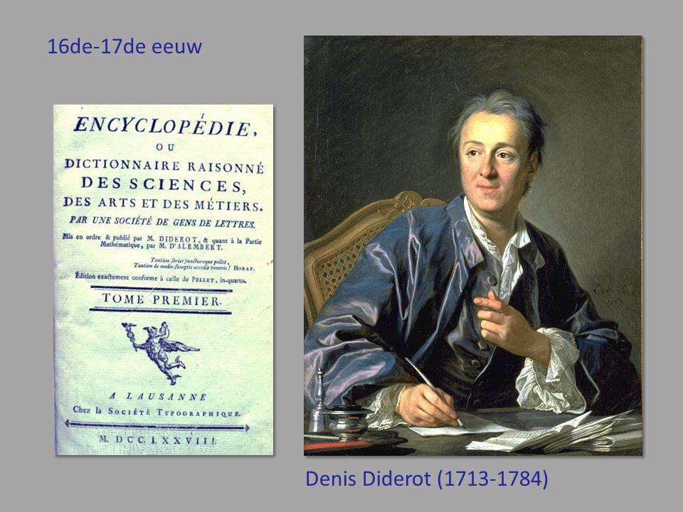 Denis Diderot (1713-1784) 16de-17de eeuw