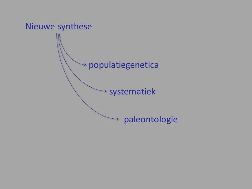 populatiegenetica Nieuwe synthese systematiek paleontologie