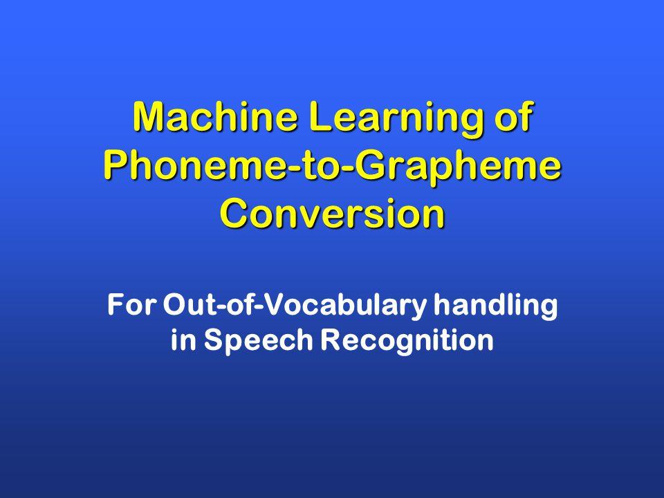 23-7-2014CNTS-Atranos3 Proper Names Domain Terminology Complex Morphology (compounds) gespreksonderwerp (topic of conversation) gesprek zonder werk (conversation without work) Out Of Vocabulary word problem