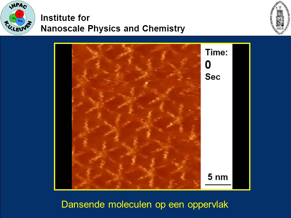 Institute for Nanoscale Physics and Chemistry Dansende moleculen op een oppervlak