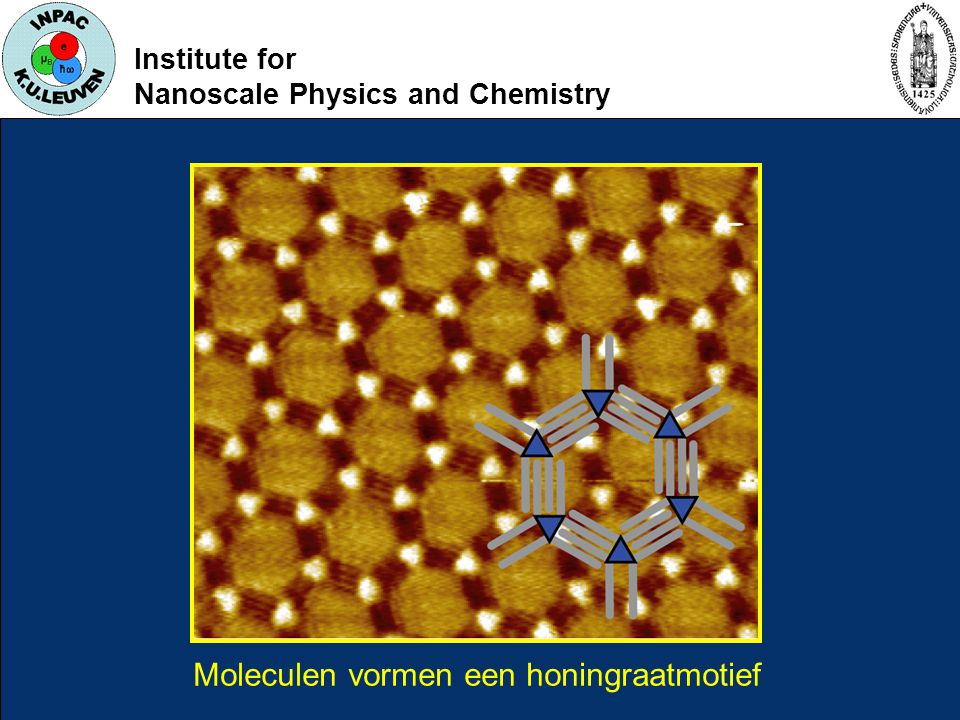 Institute for Nanoscale Physics and Chemistry Moleculen vormen een honingraatmotief