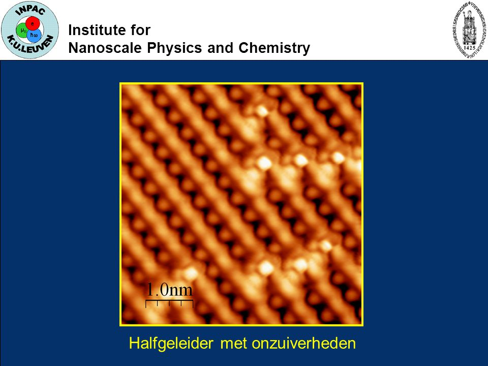 Institute for Nanoscale Physics and Chemistry Halfgeleider met onzuiverheden